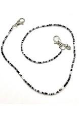 Bari Lynn Bari Lynn Black/White Beaded Face Covering Necklace