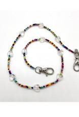 Bari Lynn Bari Lynn Multi w/ Clear Heart Face Covering Necklace