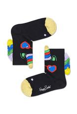 Happy Socks Black & Gold Unicorn Socks