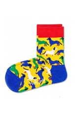 Happy Socks Blue/Green/White Dog Socks