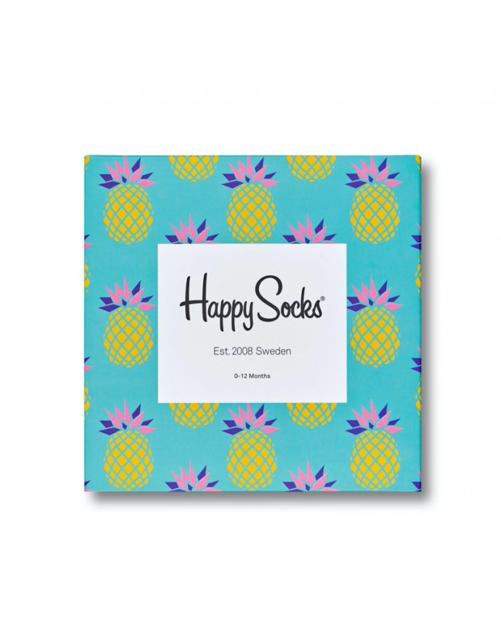 Happy Socks Pineapple socks gift set 0-12m