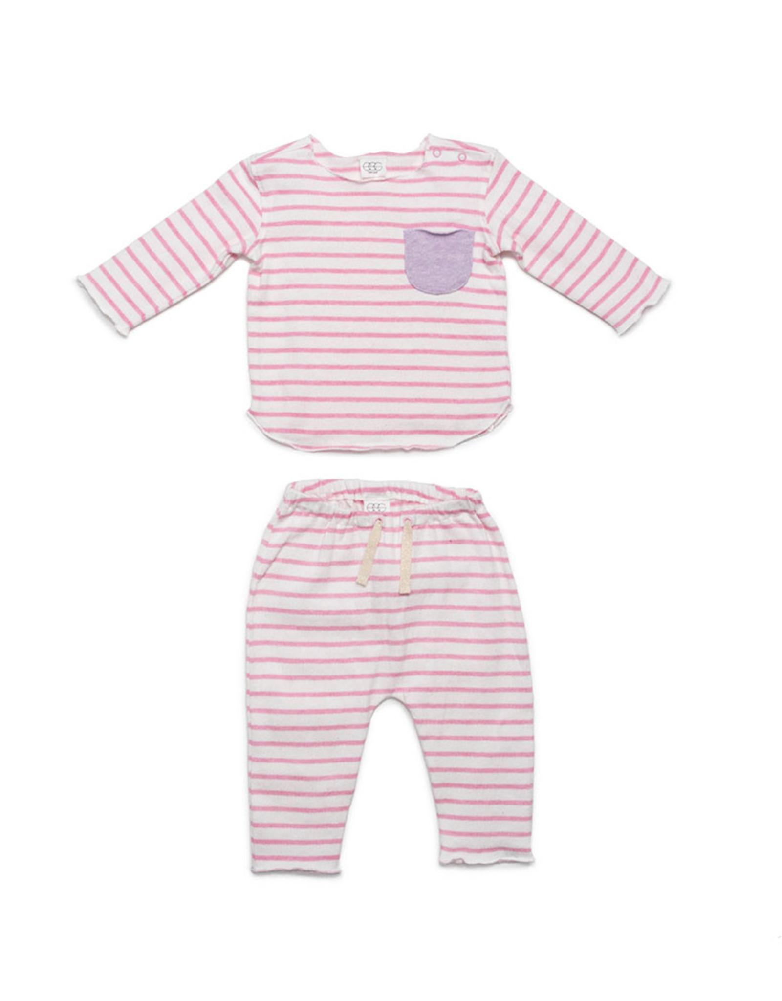 EGG New York Bobbi Set Pink Stripe