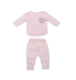 EGG New York EGG Bobbi Set Pink Stripe