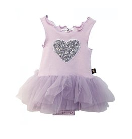 Petite Hailey Baby Heart Tutu Dress Lavender 12m