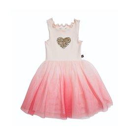 Petite Hailey Heart Tutu Dress Pink