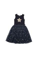 Petite Hailey Daisy Star Tutu Dress Navy
