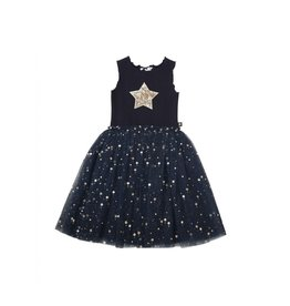 Petite Hailey Daisy Star Tutu Dress Navy