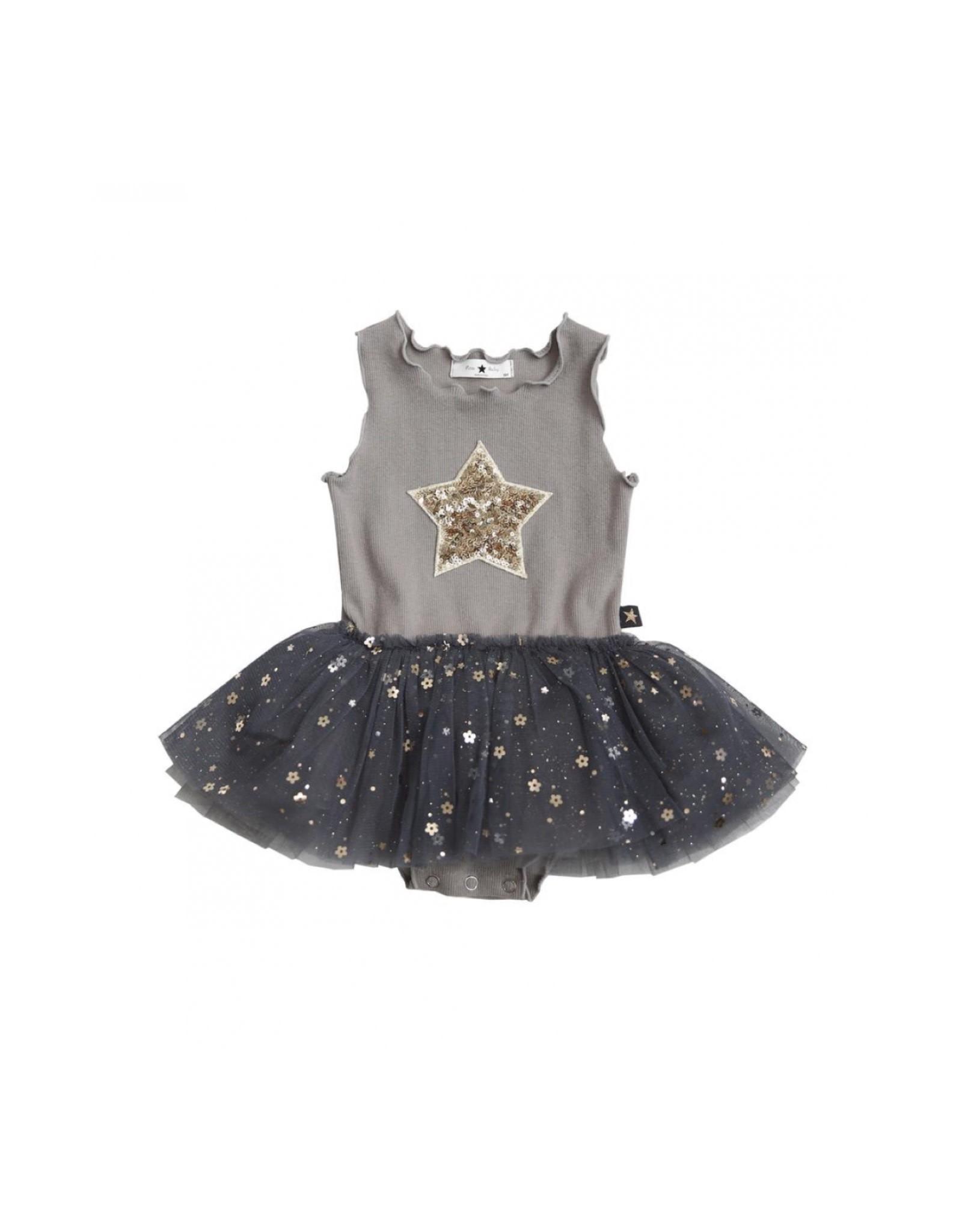 Petite Hailey Baby Daisy Star Tutu Grey