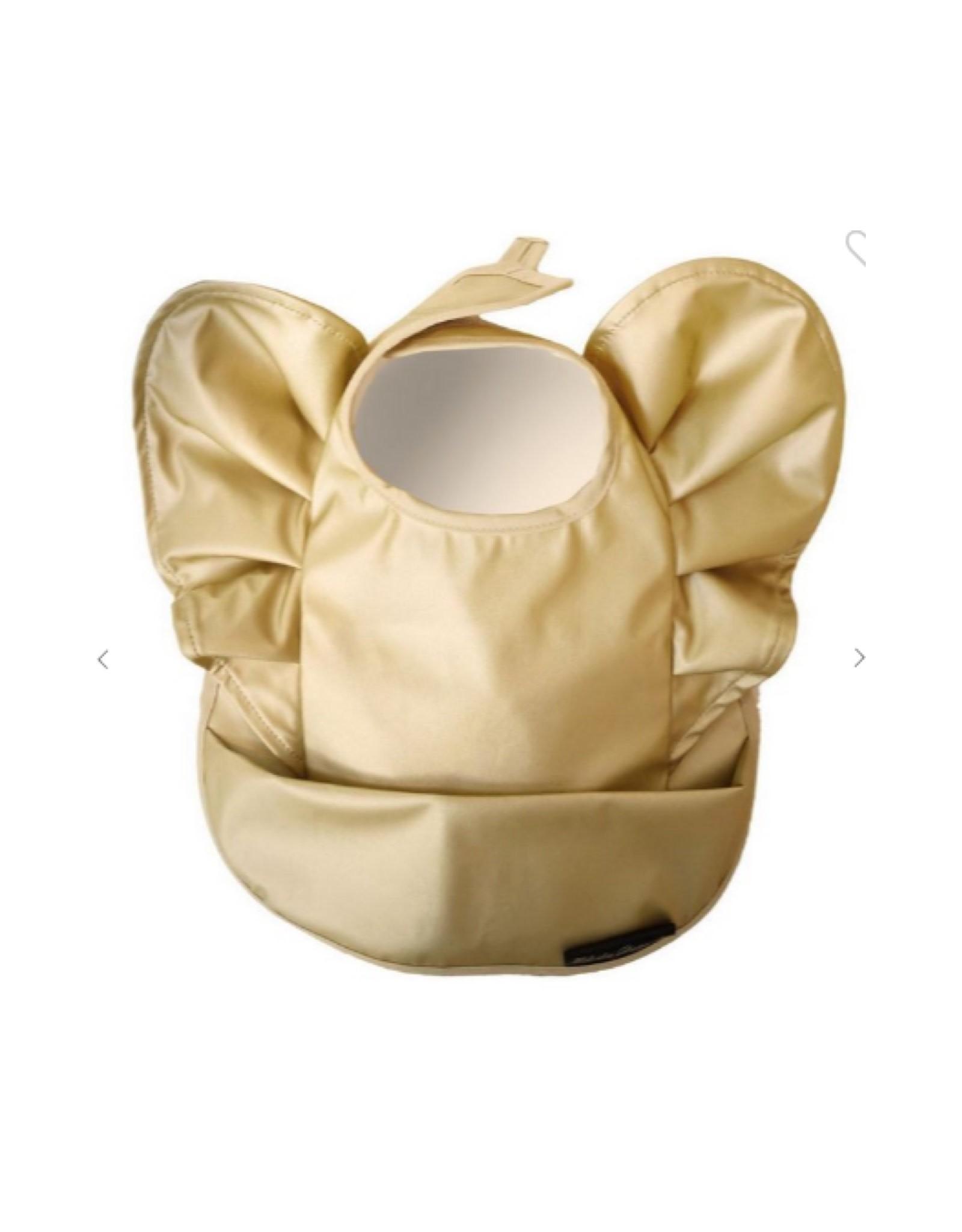 Petite Hailey Gold Baby Bib