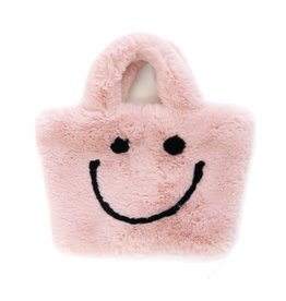 Petite Hailey Happy Face Totes Pink