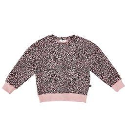 Petite Hailey Pink leopard Sweatshirt