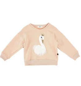 Petite Hailey Pink Swan Glitter Sweater