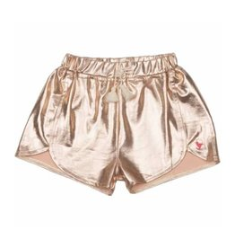 Pink Chicken Millie Metallic Rose Gold Shorts