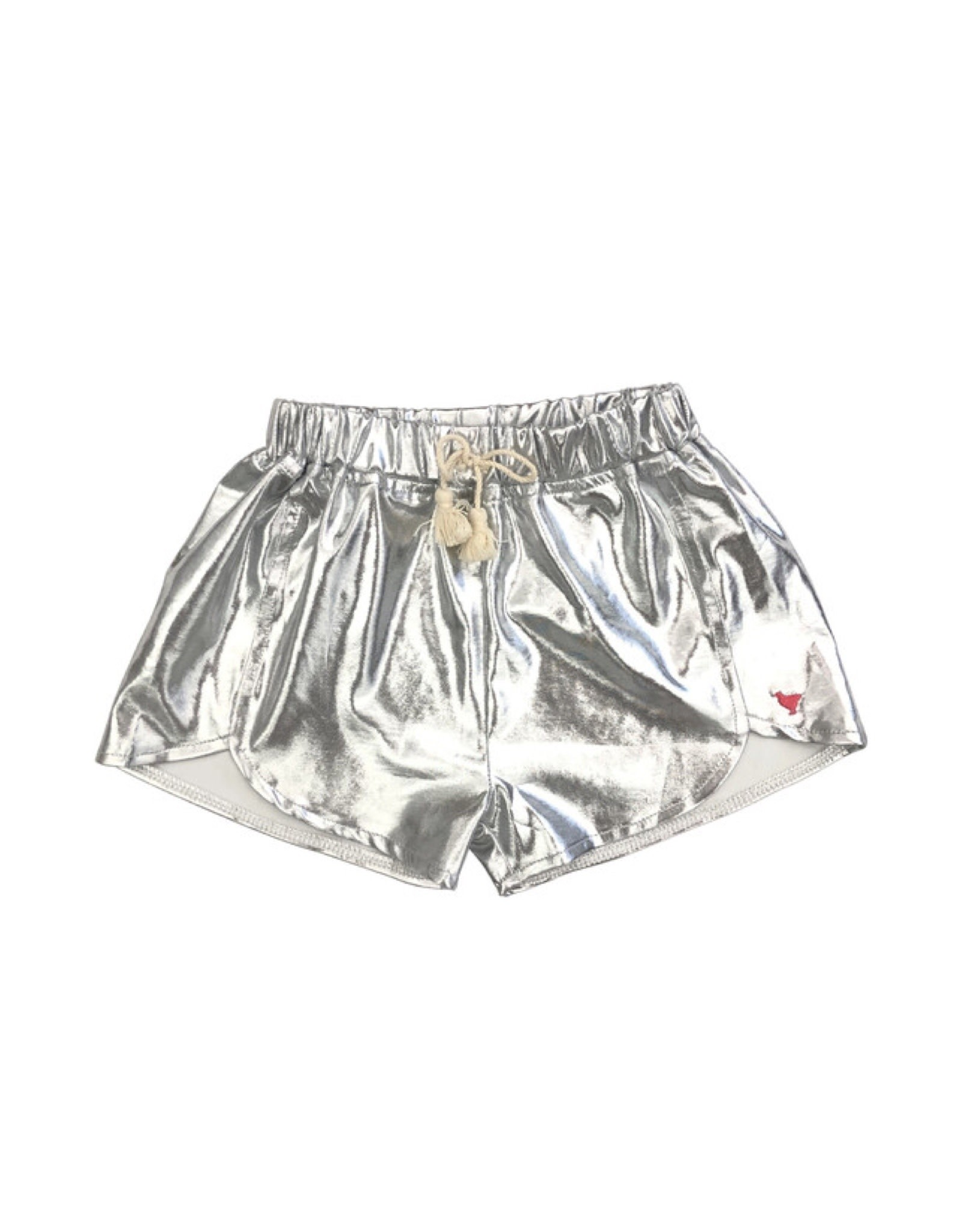 Pink Chicken Millie Metallic Silver Shorts