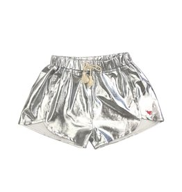 Pink Chicken Millie Metallic Silver Shorts
