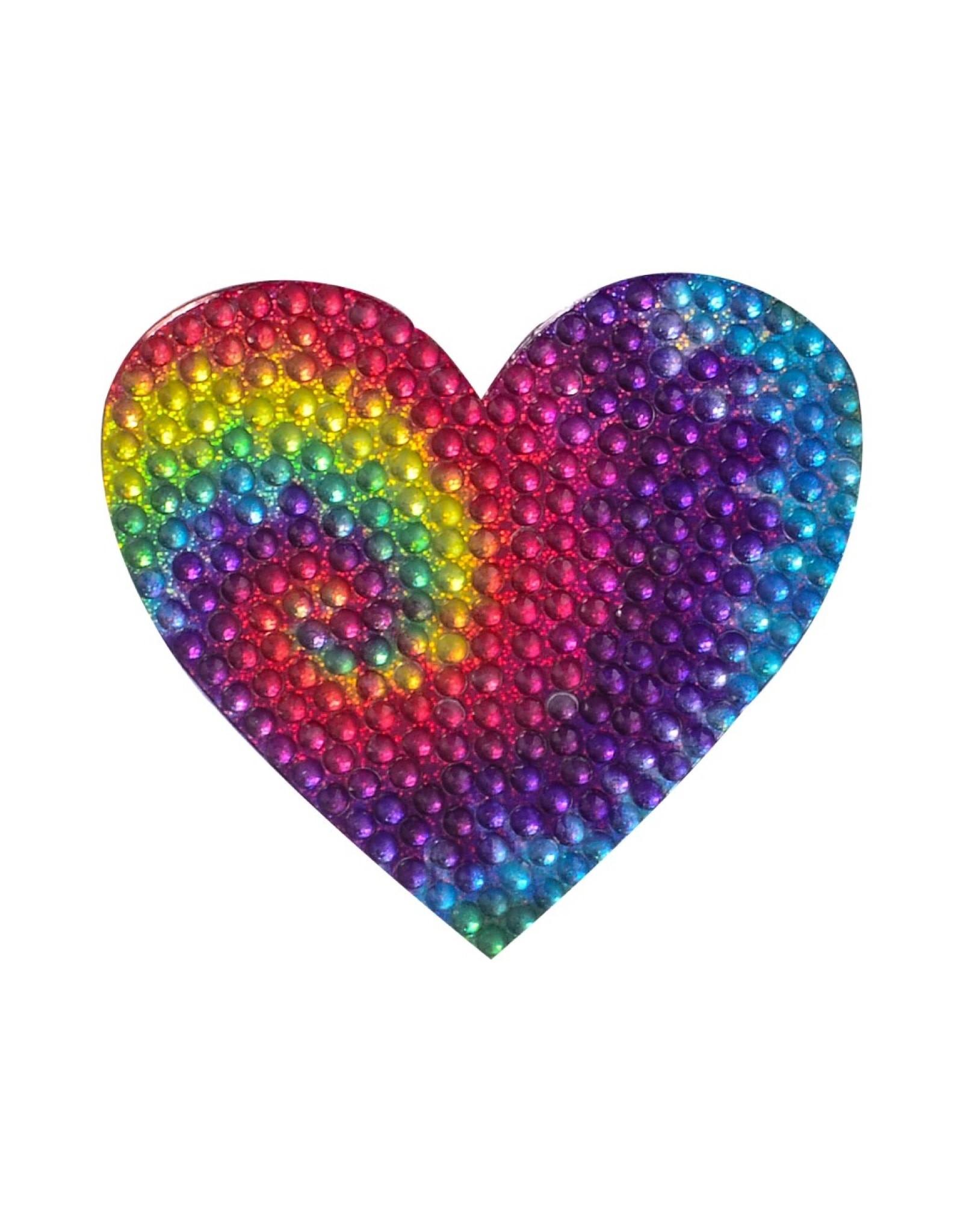 Sticker Beans Tie Dye Heart