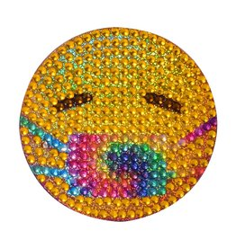 Sticker Beans Tie Dye Emoji Mask