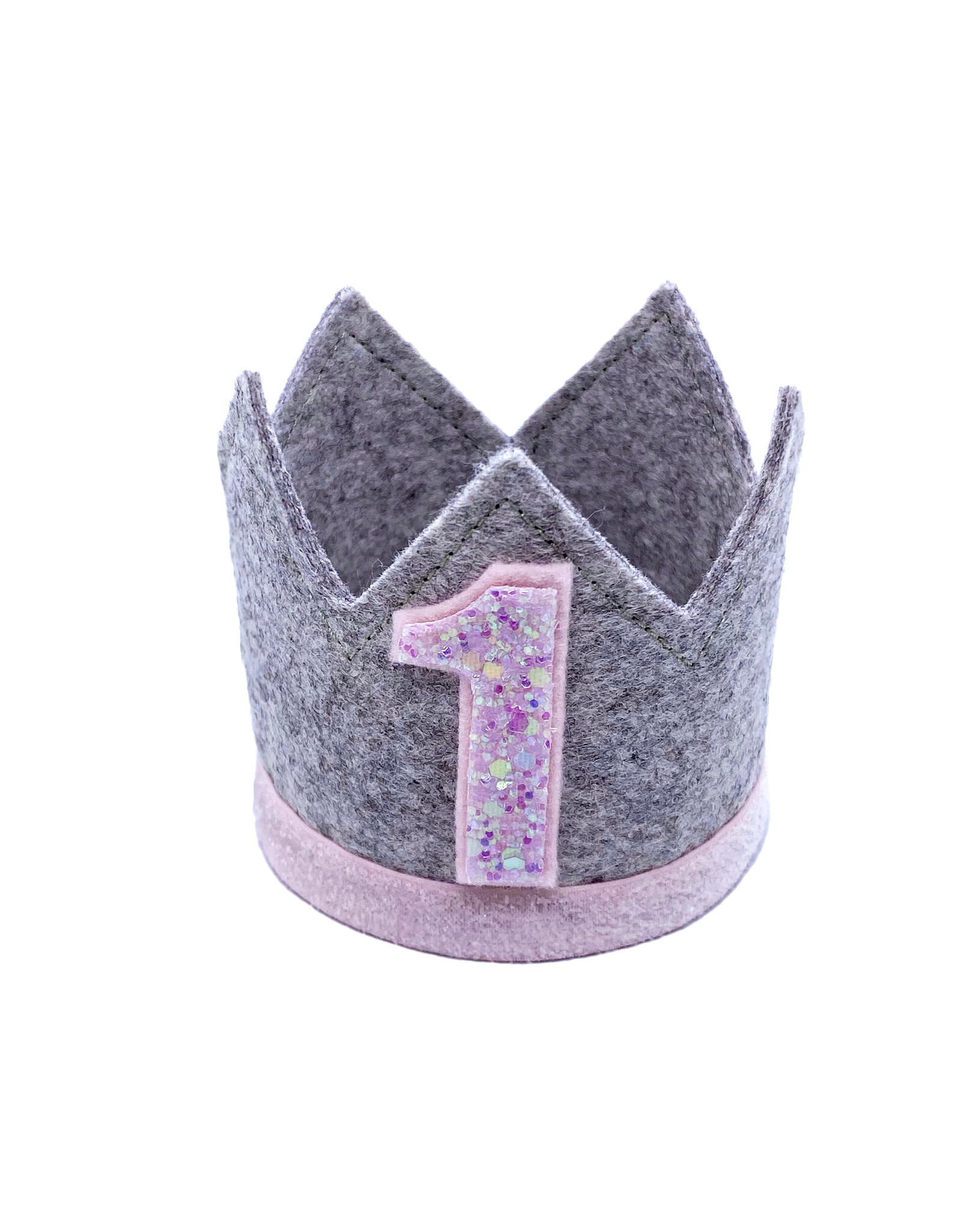 Little Blue Olive Birthday Crown Pink/Gray 1