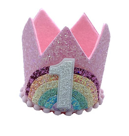 Little Blue Olive Rainbow Pastel Crown 1