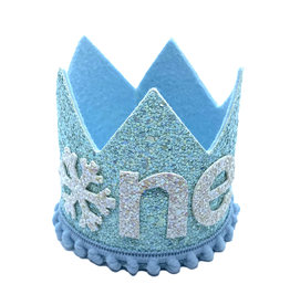 Little Blue Olive Winter Wonderland Crown Blue
