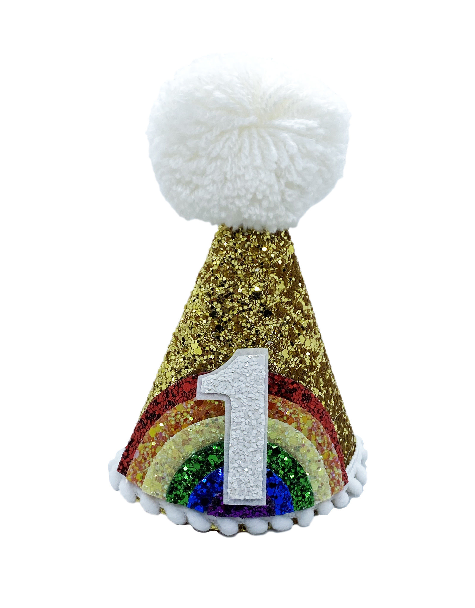 Little Blue Olive Party Hat Rainbow Gold 1