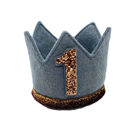Little Blue Olive Birthday Crown Copper/Gray 1