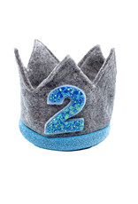 Little Blue Olive Birthday Crown Blue/Gray 2