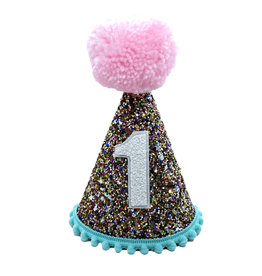 Little Blue Olive Party Hat Multi Glitter 1