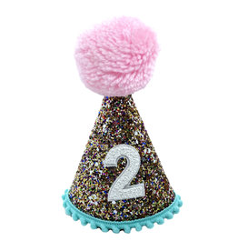 Little Blue Olive Party Hat Multi Glitter 2