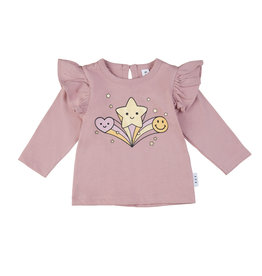 Huxbaby Star Power Frill Top
