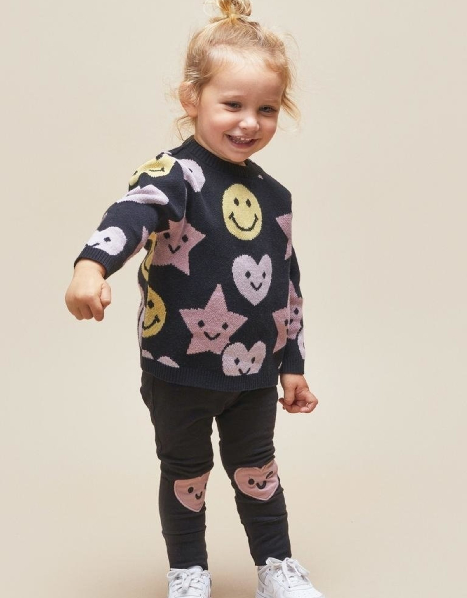 Huxbaby Be Happy Knit Pullover