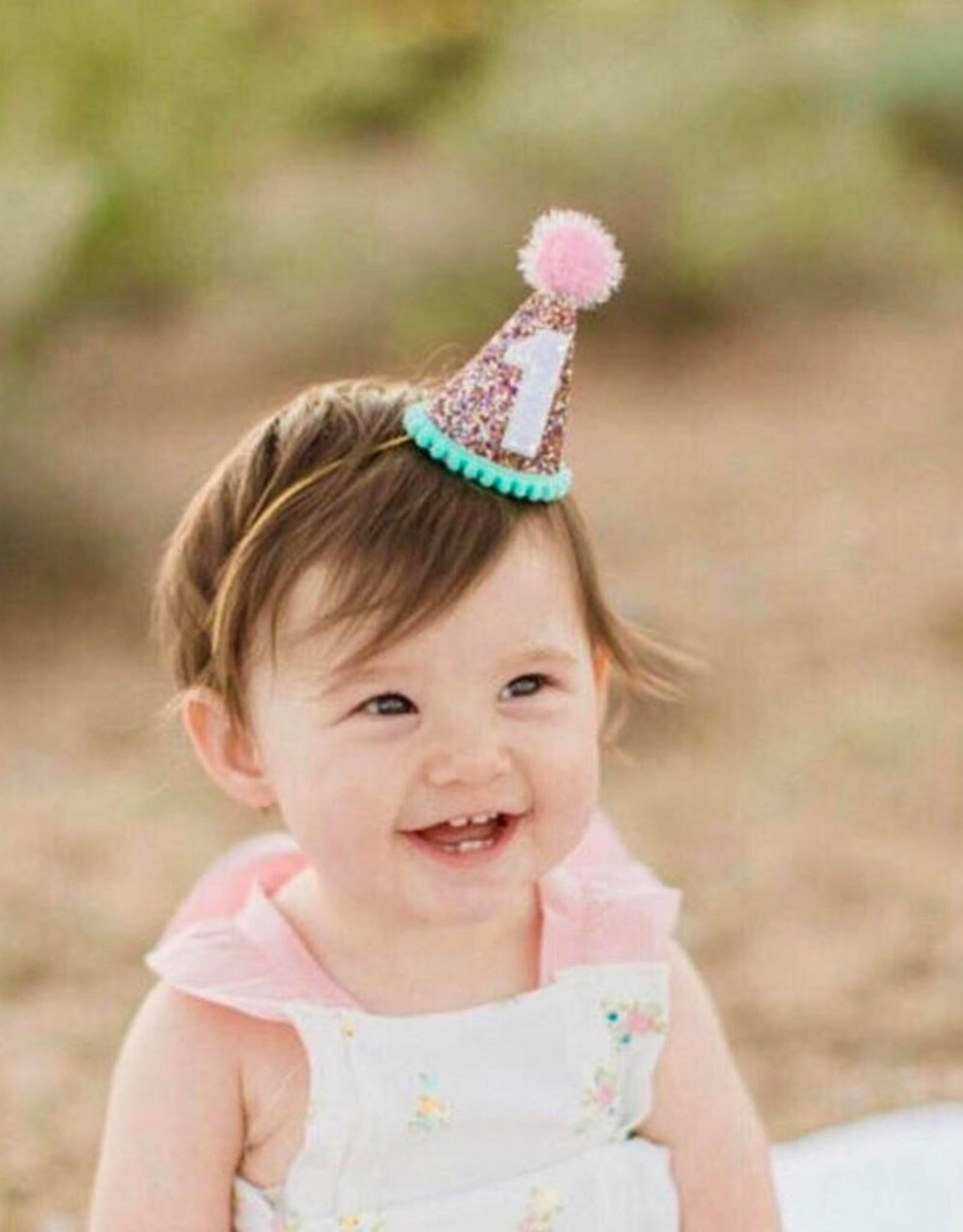 Little Blue Olive Party Hat Multi Glitter 2