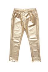 Pink Chicken Lame Metallic Legging Gold