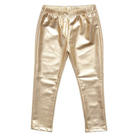 Pink Chicken Lame Metallic Legging Gold
