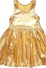 Pink Chicken Liza Lame Tank Dress Gold