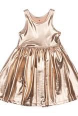 Pink Chicken Liza Lame Tank Dress Rose Gold