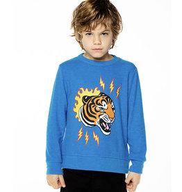 Chaser Brand Blue Tiger Bolt Pullover