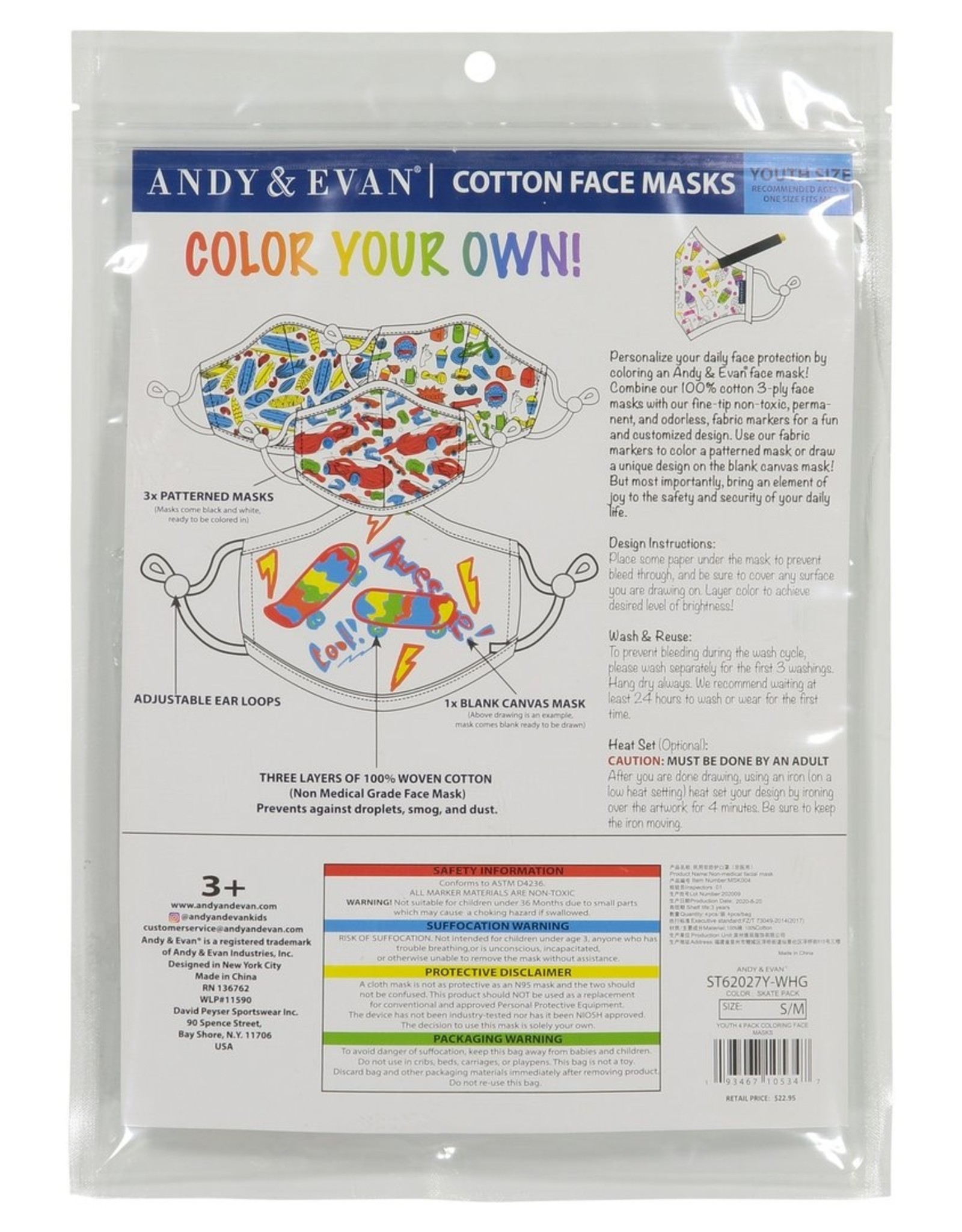 Andy and Evan Industries DIY Face Mask Skate Pack