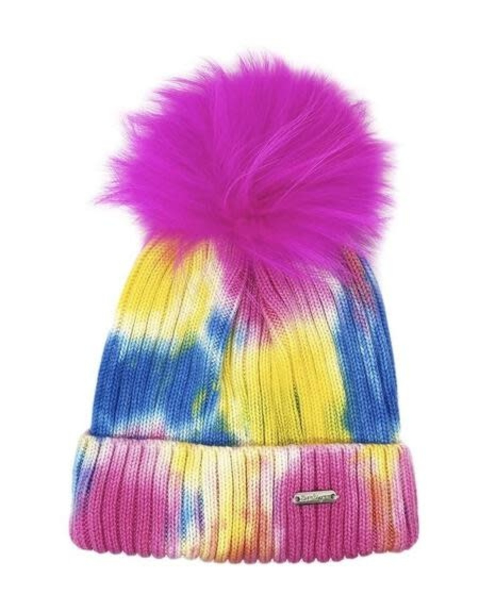 Bari Lynn Tie Dye Winter Hat Neon