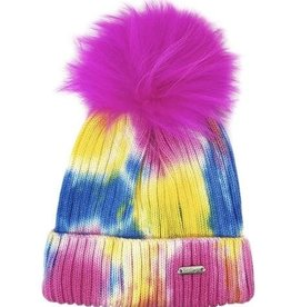 Bari Lynn Tie Dye Winter Hat Neon