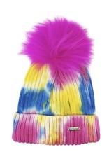 Bari Lynn Tie Dye Winter Hat Neon - Toddler