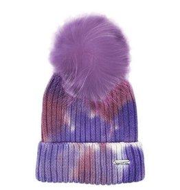 Bari Lynn Tie Dye Winter Hat Purple