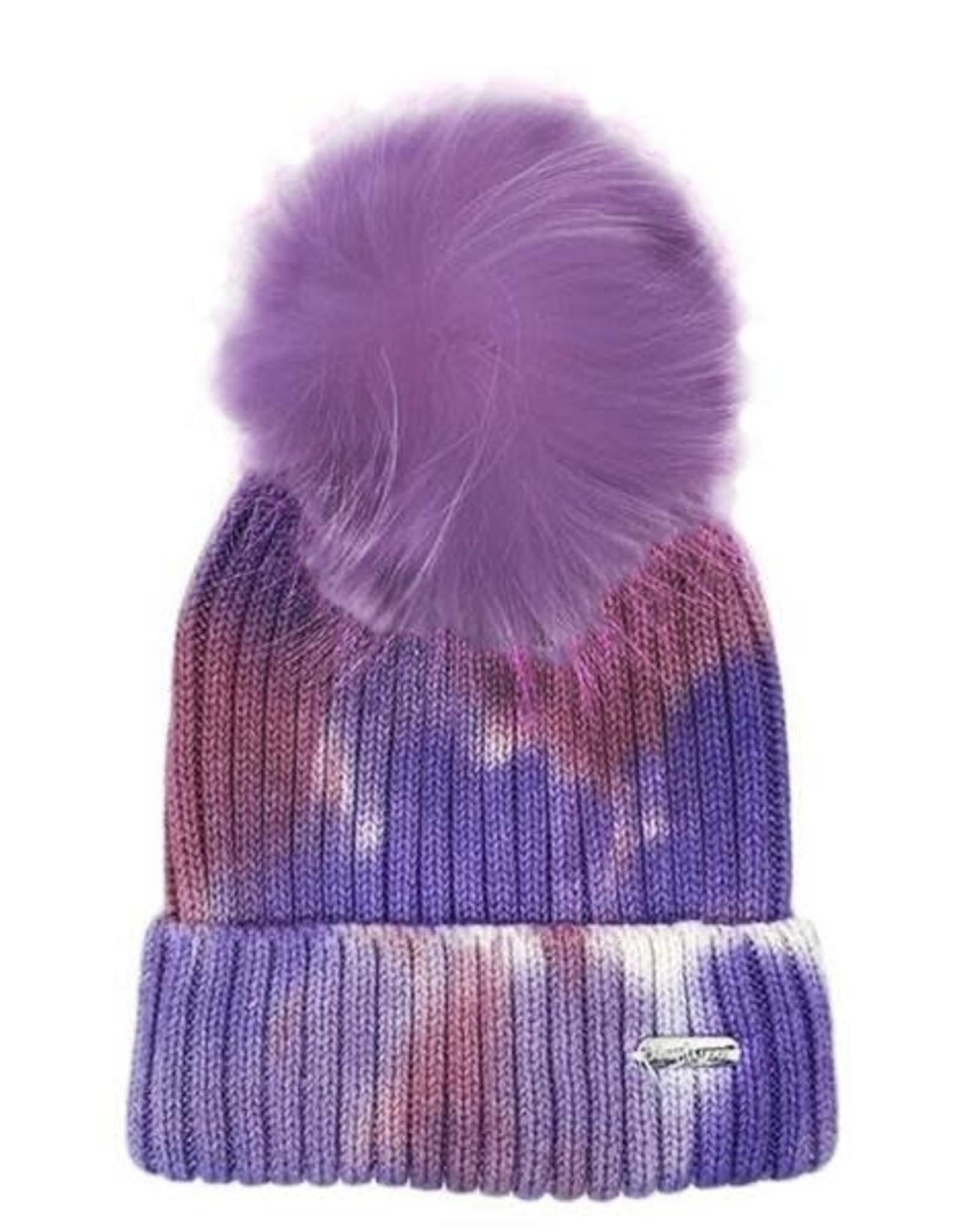 Bari Lynn Tie Dye Winter Hat Purple - Toddler