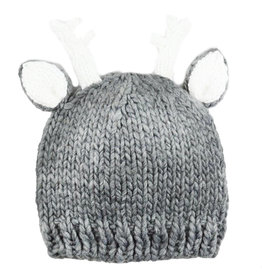 Blueberry Hill Knit Hat - Grey Deer