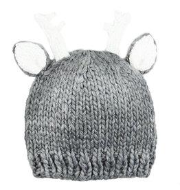 Blueberry Hill Knit Hat - Grey Deer