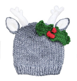 Blueberry Hill Knit Hat - Deer w/ Holly