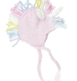 Blueberry Hill Knit Hat - Pink Unicorn