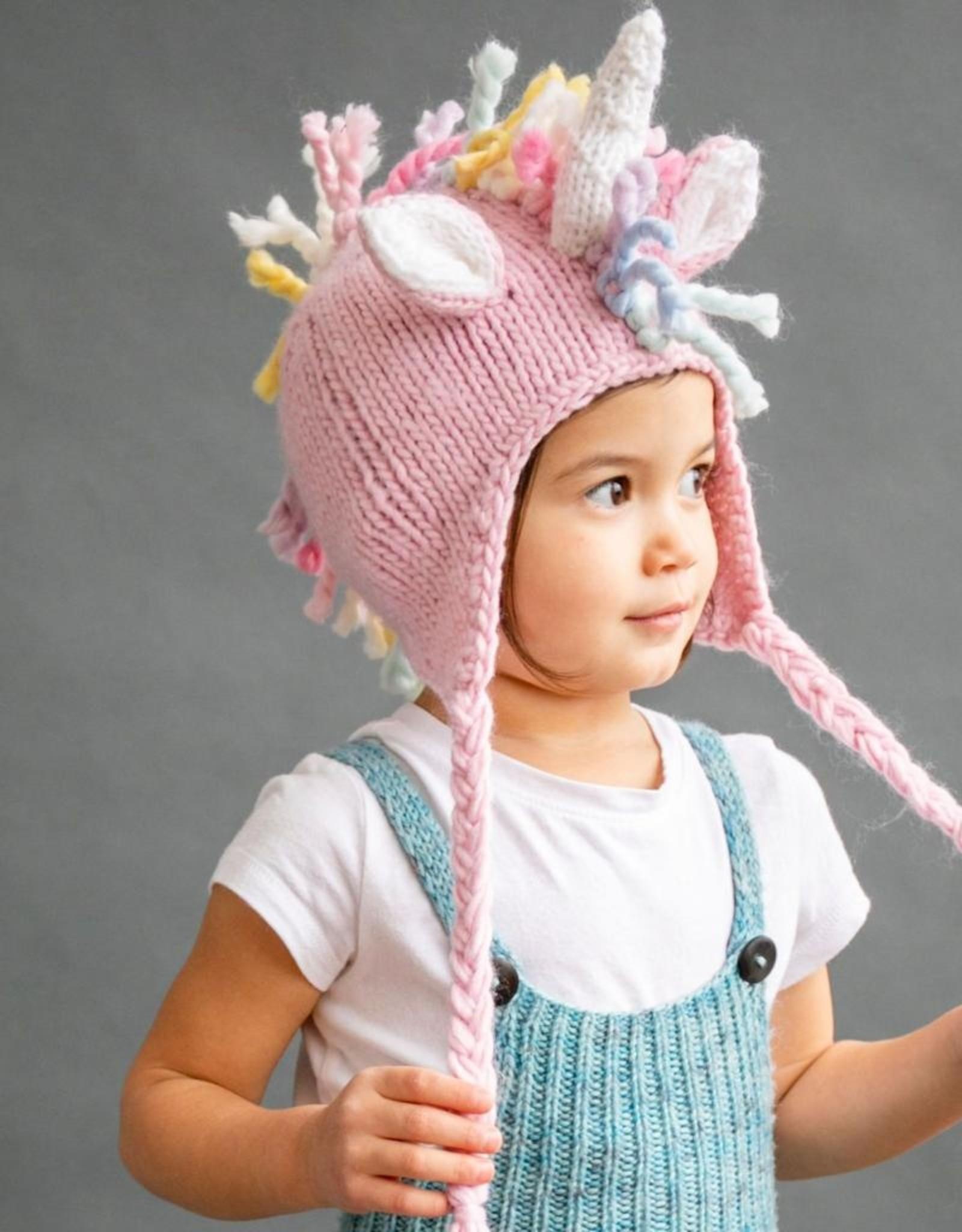 Blueberry Hill Knit Hat - Pink Unicorn