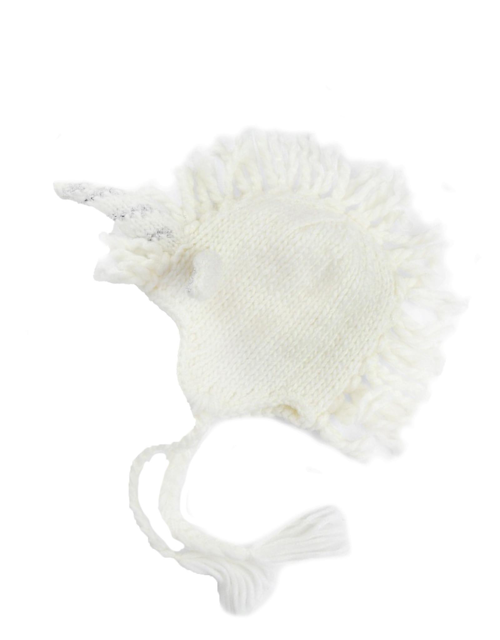 Blueberry Hill Knit Hat - White Unicorn