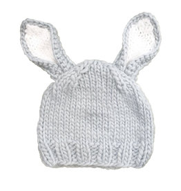 Blueberry Hill Knit Hat - Bunny Grey/White